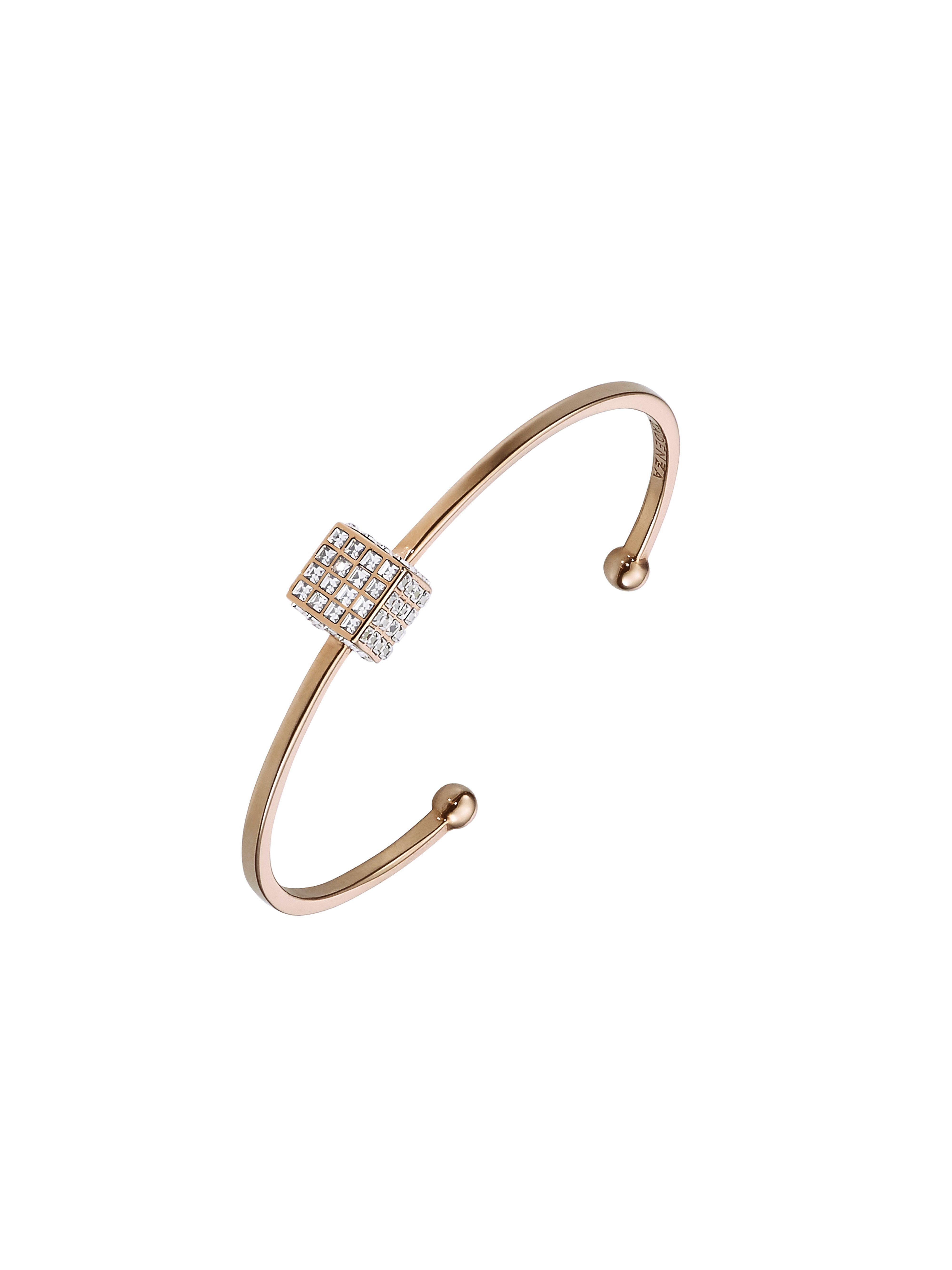 5281016_FW16_Cadenzza_Elementary_Cube_bangle_crystal_rose_gold_plated